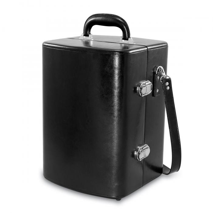 Picnic Time Manhattan Portable Cocktail Case w/Adjustable Shoulder Strap, Black