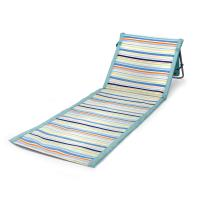 Picnic Time ONIVA Beachcomber Portable Beach Chair & Tote (St. Tropez Collection - Sky Blue with Multi Stripe Pattern)