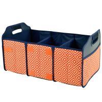 Original Folding Trunk Organizer by Picnic at Ascot - Orange/Navy