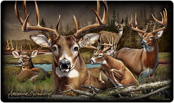 American Expeditions Deer Collage Cutting Board