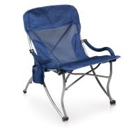 Picnic Time Extra Wide Camp Chair-Navy