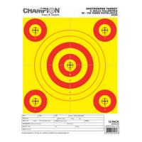 Champion Traps & Targets Shotkeeper 5Bulls Bright Yellow/Red 12 Pk