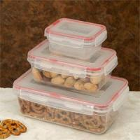 Cookpro Lock & Seal Food Storage Container With Cover-Rectangular - 6pc Set