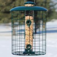 Woodlink Caged Seed 6 Port Tube Bird Feeder