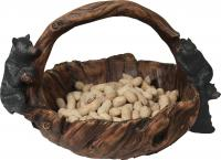 Rivers Edge Products Wood Look Bears Basket