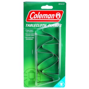 Coleman Table Cloth Clamps, Stainless Steel, 6/ Pk