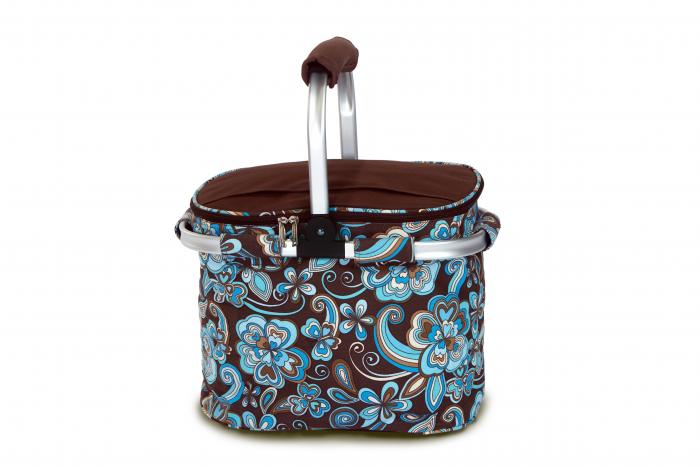 Picnic Plus Shelby Collapsible Market Cooler Tote - Cocoa Cosmos