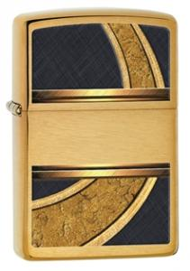 Zippo Gold and Black Brushed Brass Zippo