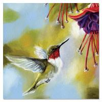 Tree Free Greetings Ruby and Fuchsia Magnet