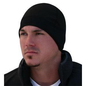 Cold Weather Headwear Helmet Liner, Microfleece & Neoprene, Black