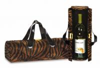 Picnic Plus Carlotta Clutch Wine Bottle Clutch, Brown Tiger