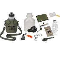 NDuR Survival Canteen Kit w/Advanced Filter, Olive, 46oz.