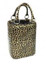 Picnic Gift - Bitchin Beer Bag - Leopard insulated 6 bottle beverage tote