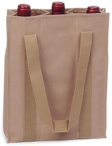 Picnic & Beyond Durable Polyester 3 Bottle Wine Bag