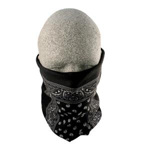 Motley Tube 100% Polyester Facemask, Black Paisley