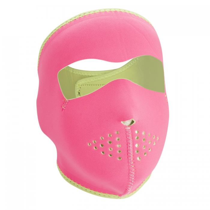 ZANheadgear Neoprene Full Mask - Pink Reverses to Lime