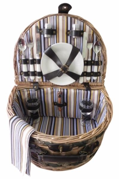 Picnic & Beyond Estate Willow Picnic Basket for Two