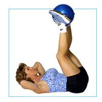 """J/Fit 9"""" Durable Vinyl Therapy Excercise Ball"""