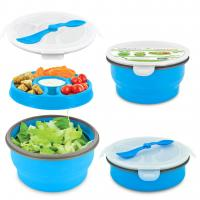 Smart Planet Blue 65Oz Delux Collapsible Salad