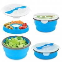 Smart Planet Blue 65Oz Delux Collapsible Salad