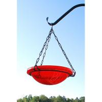 Achla Red Crackle Hanging Birdbath