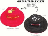 Luvali Convertibles Guitar Treble Cleff Reversible Kids' Hat, Large