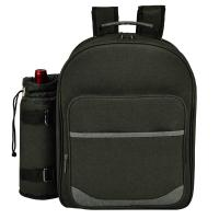 Picnic at Ascot Deluxe Equipped 2 Person Picnic Backpack - Charcoal