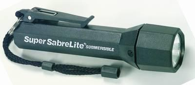 Pelican Products Inc - Super Sabrelite Laser Spot Xenon Submersible Black Body Pro Flashlight