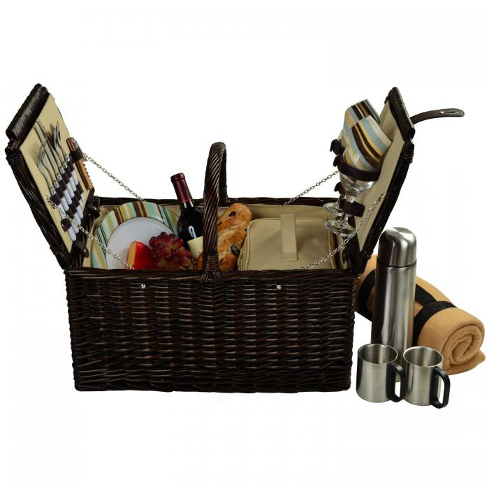 Picnic at ascot basket for 2 : Picnic at ascot surrey basket for w blanket