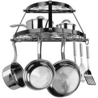 Two Shelf, Wall-mount Pot Rack (black)