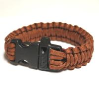 JB Outman Survival Bracelet With Whistle - Brown