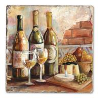 Counter Art Tuscan Pinot Single Tumbled Tile Coaster