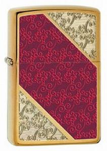 2012 Zippo Choice elegant damask pattern on brushed brass