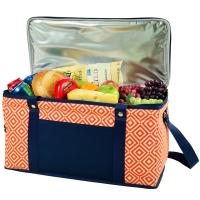Picnic at Ascot 72 Can Large Folding Collapsible Cooler - Orange/Navy