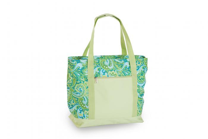 Picnic Plus Lido 2-in-1 Cooler Bag - Green Paisley
