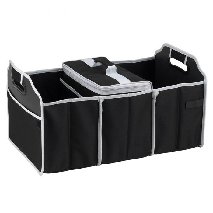 Original Folding Trunk Organizer with Cooler by Picnic at Ascot - Black