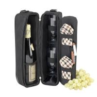 Picnic At Ascot - Sunset Wine Tote for 2  - Black/London