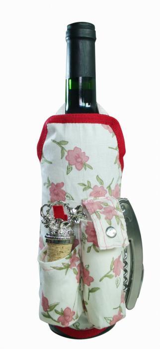 Primeware Deluxe Wine Apron, Tea Rose