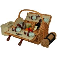 Picnic at Ascot Yorkshire Picnic Basket for Four with Blanket - Gazebo