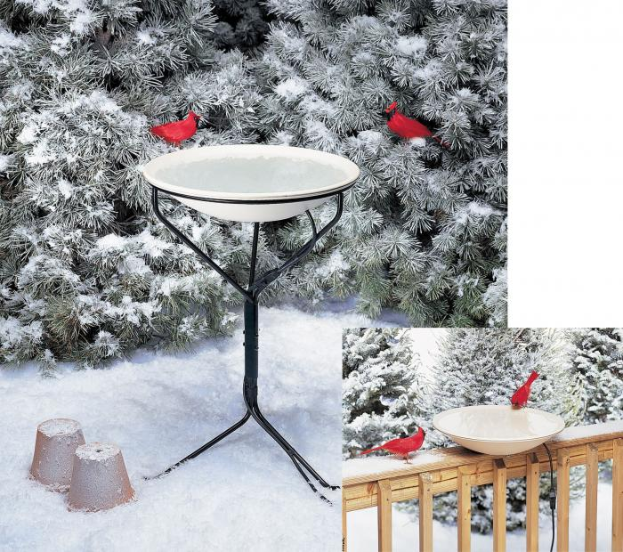 Allied Precision Heated Bird Bath with Stand