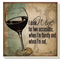 Counter Art I Drink Wine Coasters Set of 4
