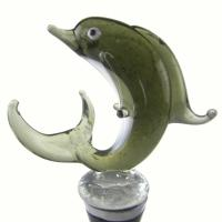 Zee's Creations Green Dolphin Wine Bottle Stopper