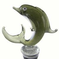Zee's Creations Green Dolphin Wine Bottle Stopper
