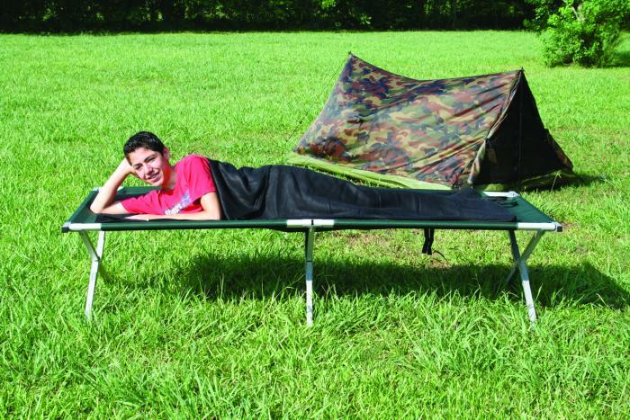 Texsport Black Fleece Sleeping Bag