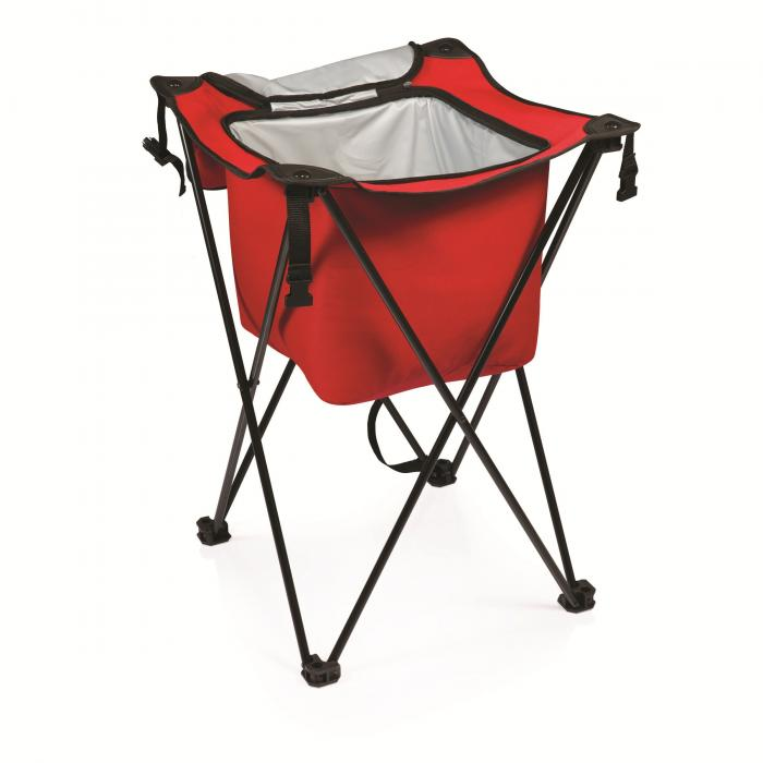 Picnic Time Sidekick Party Cube Cooler, Red