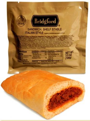 Bridgford Italian Style Sandwich - Ready to Eat, Case of 48