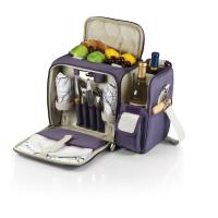 Picnic Time Malibu Aviano Insulated Pack w/Deluxe Picnic Service for Two