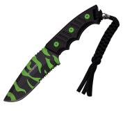 "Z-Hunter Fixed Blade Knife 3.75"" Zombie Camo Serrated Blade"