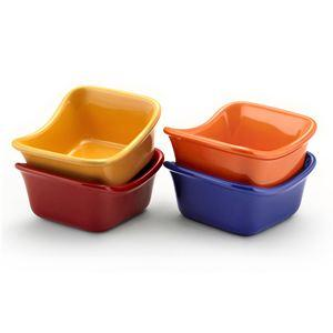 Rachael Ray Set of 4 Square Ramekins (Assorted)