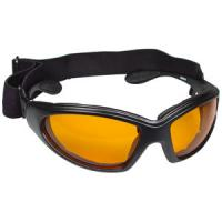 Bobster Action Eyewear GX Sunglasses, Black Frame, Amber Anti-Fog Lens